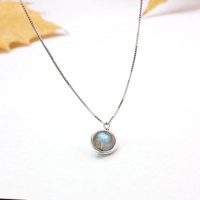 S925 Sterling Silver Necklace Chain Labradorite Pendant Necklace For Women Jewelry Nature Gemstone