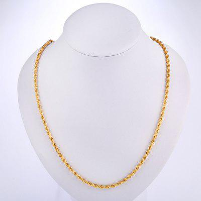 20 inch Long Necklace Man Twist Rope Chain
