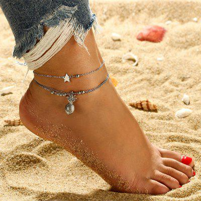 Bohemian Ocean Wave Anklet Bracelets for Women Beach Ankle Chain Foot Bracelet Summer Jewelry