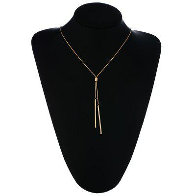 Long Necklaces Women Gold Tassel Pendant Sweater Necklace Kolye Metal Link Chain Fashion Jewelry