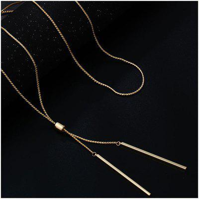 Long Chain Necklace For Women Gold Tassel Pendant Sweater Necklace Kolye Metal Link Chain