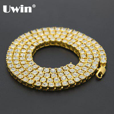 Luxury Tennis Chain Necklaces Gold Color Men Fashion Jewelry