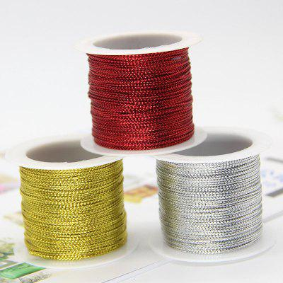 5 Rolls Glitter Yarn Rope Gold Silver Red DIY Gift Wrapping Ribbon Garment Sewing Handmade Material