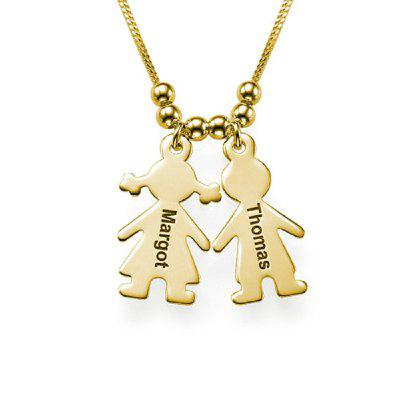Personalized Kids Pendant Necklace Custom Made Name for Family Gold Silver Color