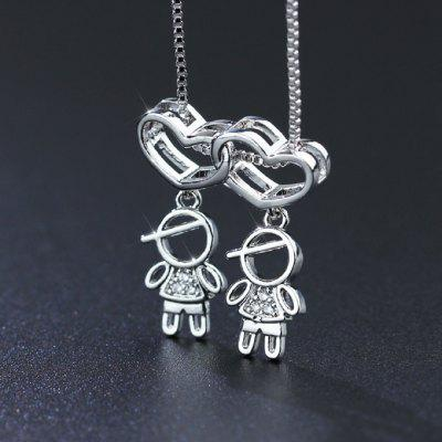 Family Love Mom Dad Son Daughter Necklace Boys Chain for Gifting