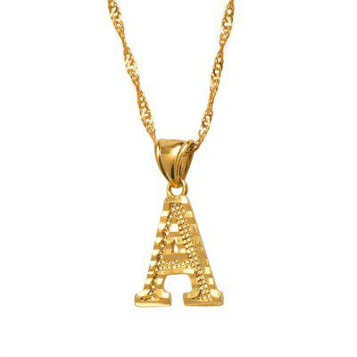 Small Letters Necklaces for Women Girls Gold Color Initial Pendant Thin Chain Jewelry Alphabe Gift