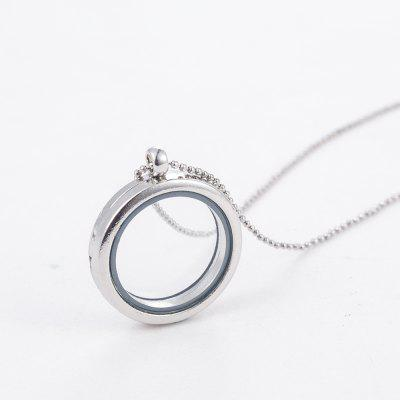 3cm Round Living Memory For Floating Charm Glass Locket Chain Pendant Necklace Gifts For Women