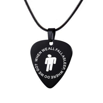 Billie Eilish Necklace Stainless Steel Hip-hop Music Pendant Chains