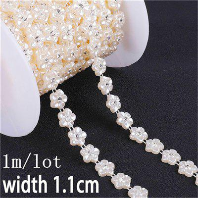 ABS Imitation Pearl Beads Chain Trim for DIY Decoration