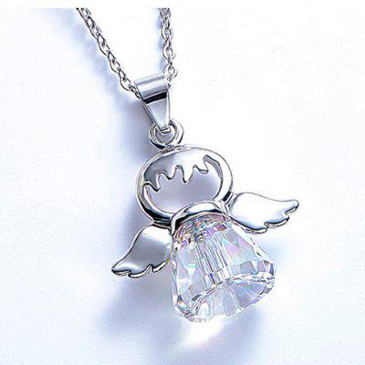 Cute Angel Pendant Necklace Crystals Chain for Kids