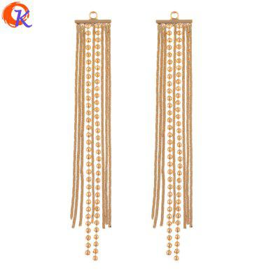 10Pcs 10 x 67MM Jewelry Accessories DIY Making Genuine Gold Plating Copper Earrings Chain