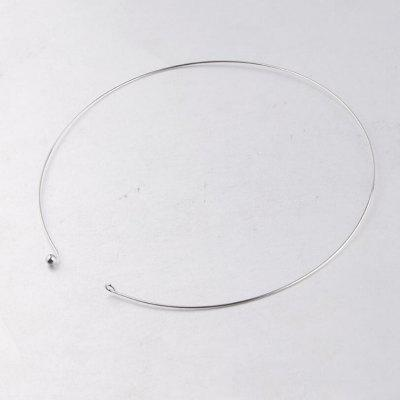 10pcs Stainless Steel Wire Cable Chain Necklace Circle Torques Collar Choker For DIY Jewelry