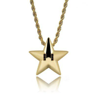 Star Pendant Necklace Hip Hop Jewelry For Men Party Jewelry Pendant Cheap Gold Chains