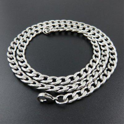 4mm Wide Stainless Steel Silver Necklace Men Women Hip Hop Chains
