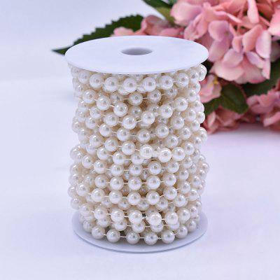 10mm Artificial Ivory Pearl Beads String Chain Spool Cotton Line