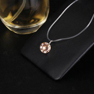 New Mermaid Tear Necklace Meteorite Pendant Transparent Fishing Line Invisible Chains For Women