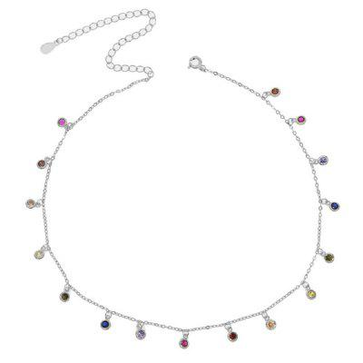Bezel Drip Necklace 925 Sterling Silver Necklace Chain Dainty Chandalier Layering Necklaces