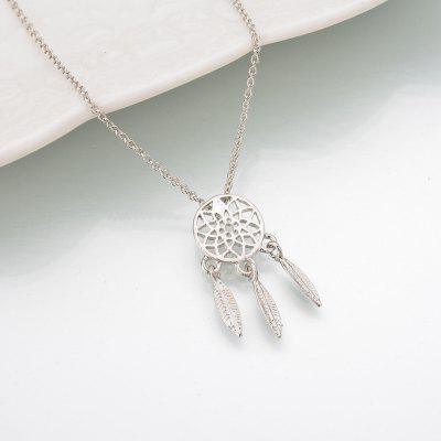 Fashion Feather Necklace Long Sweater Chain Statement Jewelry Chains For Women