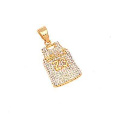 Stainless Steel Gold Color Round Cut Rhinestone Simulated Diamonds Cut Chain Sporting Jewelry