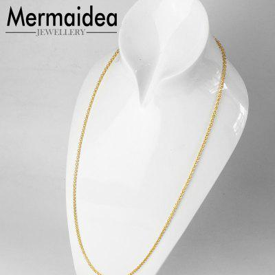 Round Belcher Gold Color Chain Necklace