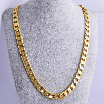 High Quality 18K Mens Gold Rope Chain Women Men Solid Charm Necklace