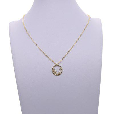 Fashion Jewelry Cheap Gold Chains Round Pendant Star Necklace