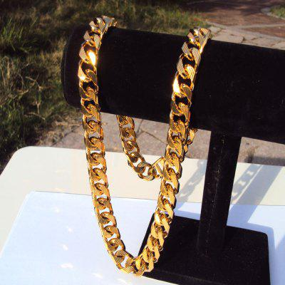 Cuban Curb Chain 22K 23K 24K 108 Grams Jewelry 4mm