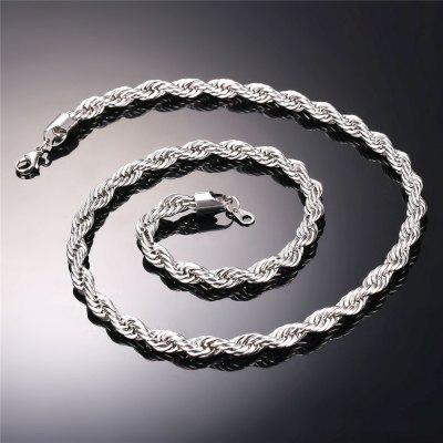 Hip Hop Rope Necklace for Men Hippie Rock Dookie Chain