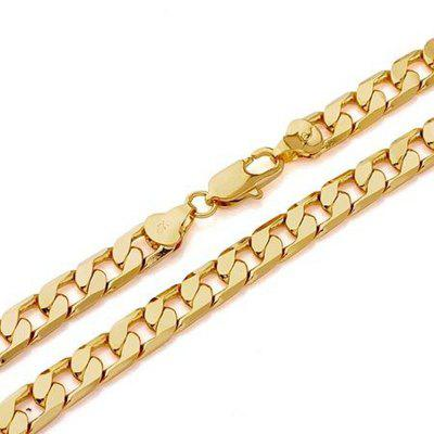 Cool Boutique 18ct Gold Chain Mens Filled Necklace 23.6 inch Curb Chain