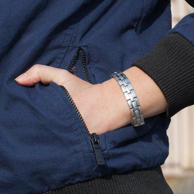 Health Magnetic Bracelet Male Stainless Steel Wrist Band Chain Men Hand Chain