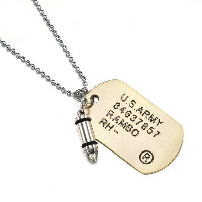 Fashion Men Military Army Bullet Chain Charm Pendant Necklace Jewelry Gift