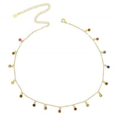 Simple Charm Chain Women 925 Sterling Silver Choker Necklaces