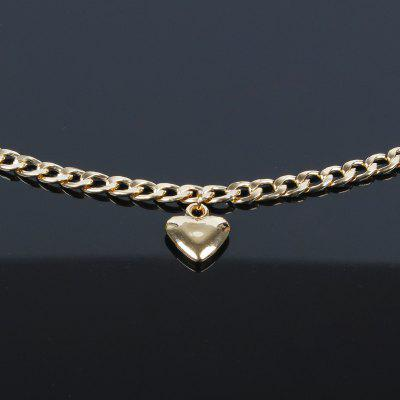 Trendy Women Jewelry Cute Heart Lock Necklace Gold Silver Choker Gold Neck Chain