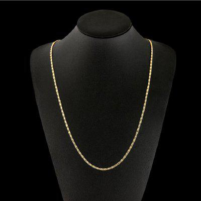 Fashion Exquisite Jewelry 18K Stamp 16 inch Gold Chain Necklace