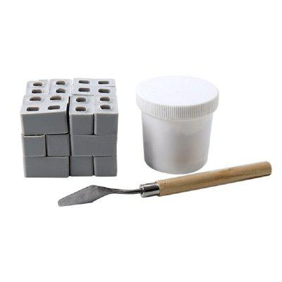 Mini Cement Cinder Bricks Mini Red Brick Childrens Educational Toys Classic Building Blocks Set