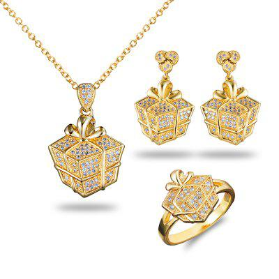Personalized Jewelry Selling 18 Karat Gold Jewelry Inlaid Jewelry Set Zircon Lady Pendant Necklace