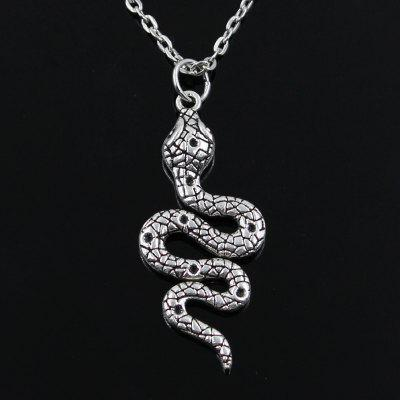 Fashion Snake Cobra Pendants Round Cross Chain Mens and Womens Silver Necklace Jewelry Gift