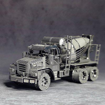 3D Puzzle Metal Model Kit Small Cement Mixer Engineering Vehicle Assembly DIY Laser Cut Toy