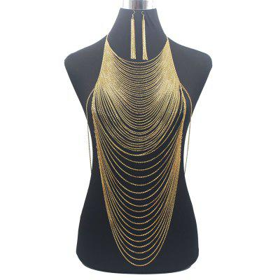 Fashion Shiny Sexy Body Belly Gold Silver Color Full chain Body Chain