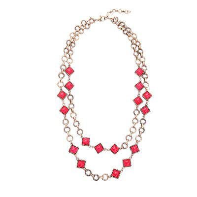 Alloy Gold Chain Online Shopping Geometric Large Necklace Collier Femme Collar Necklace