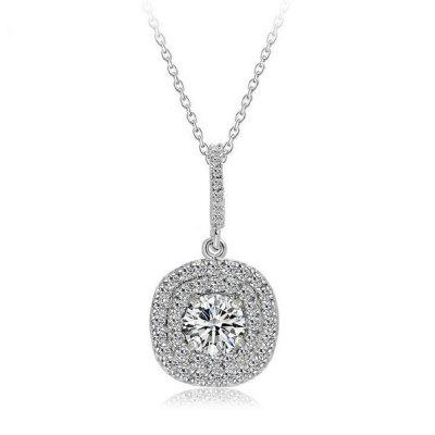 Luxury Jewelry 10KT Gold Chain Filled 5A Cubic Zirconia Party Women Pave Wedding Chian Necklace
