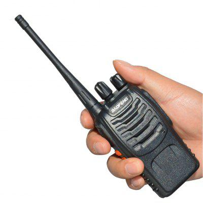 2Pcs Bf-888S Walkie Talkie Portable Radio Station 5W Comunicador Transmitter Transceiver Radio Set