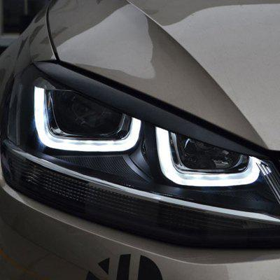 Headlights Eyebrow Eyelids Cover Sticker for Volkswagen