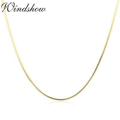 35cm Thin Slim 925 Sterling Silver Gold Octagon Snake Chains Long Necklace