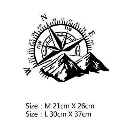 Compass Car Sticker Funny Vinyl Wrap Car-styling Decals