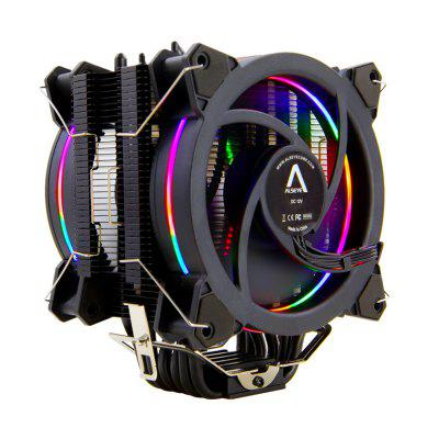 CPU Cooler RGB Fan 120mm PWM 4 Pin 6 Heat Pipes Cooler