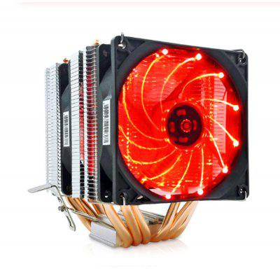 Heatpipes CPU Cooler Fan For AMD Intel 775 1150 1151 1155 1156 CPU Radiator 90mm LED Two Fan