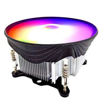 CPU Cooler RGB 120mm Screw Mounting Heat Sink 3 Pin CPU Cooling Fan PC Quiet