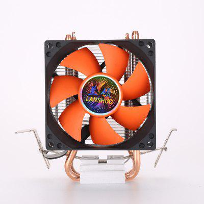 8cm 80mm Mini 2 Heatpipes PC CPU Cooler Heatsink Computer Cooling Fan for