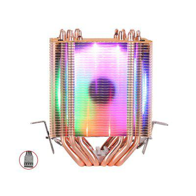 High Quality 6 Heat-pipes Dual-tower Cooling 9cm RGB Fan Support 3 Fans 4PIN CPU Fan